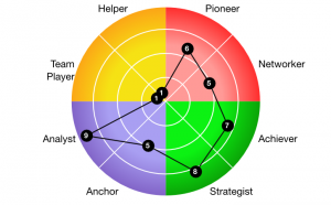 The Talent Profile is based on the Octogram test results.